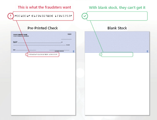 Pre-Printed Check vs Blank Stock