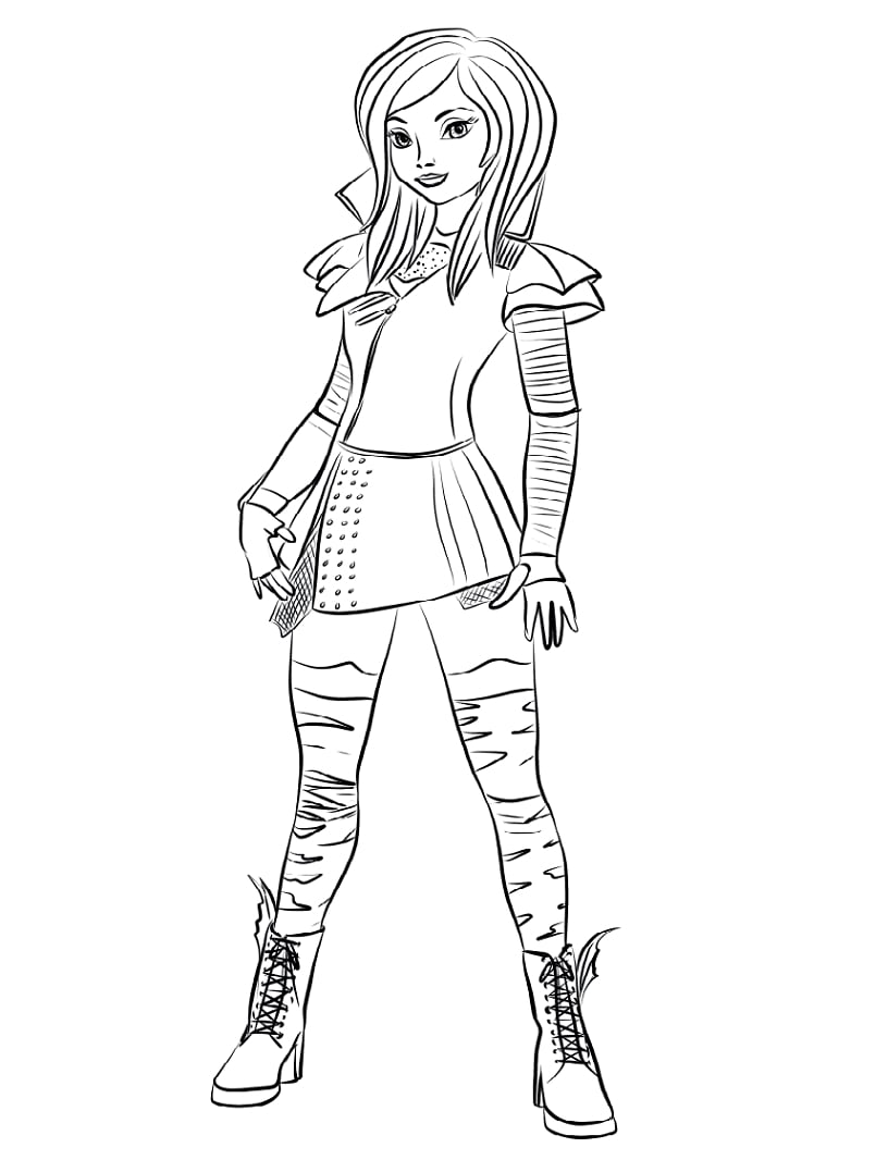 How To Draw Mal From Descendants : descendants, Mal-from-descendants-coloring-page, Online, Coloring, Pages