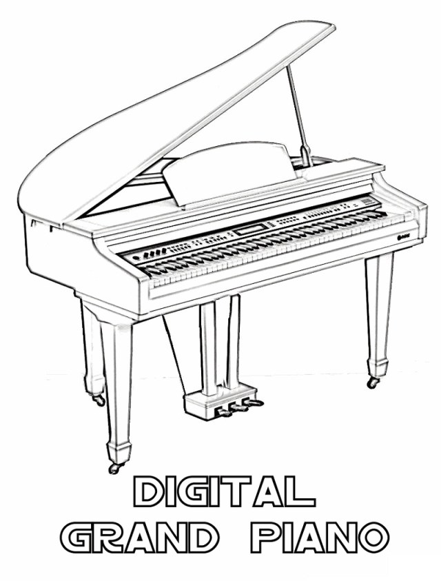 Top 29 Printable Piano Coloring Pages - Online Coloring Pages