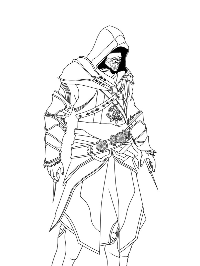 Assassins Creed Coloring Pages : assassins, creed, coloring, pages, Printable, Assassin's, Creed, Coloring, Pages, Online