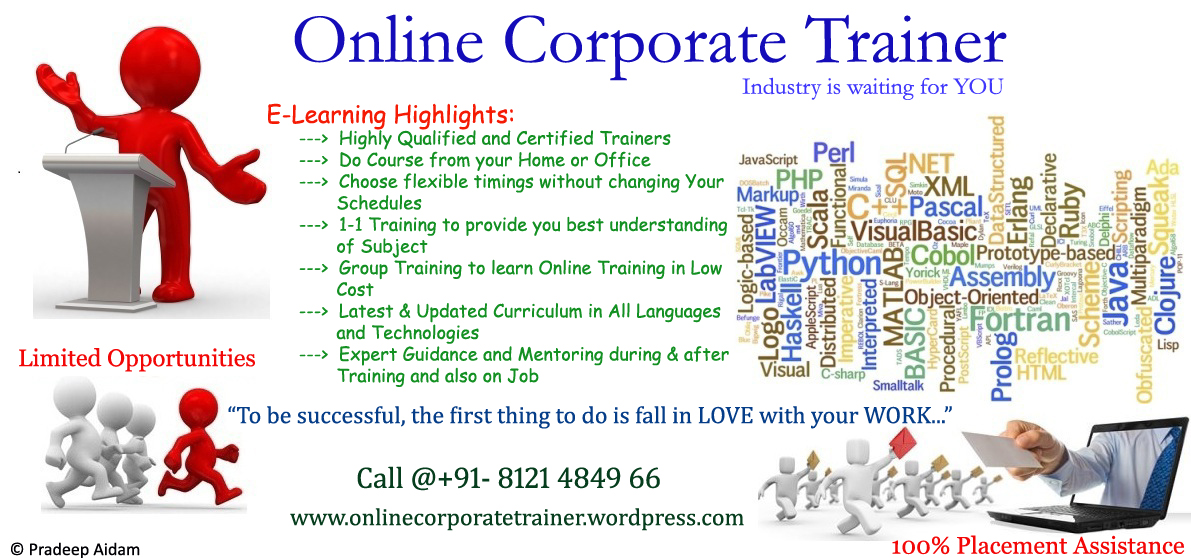 Online Corporate Trainer  Industry is waiting for YOU