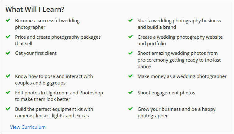 Wedding courses online
