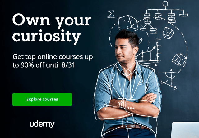 Udemy Curiosity sale 2017