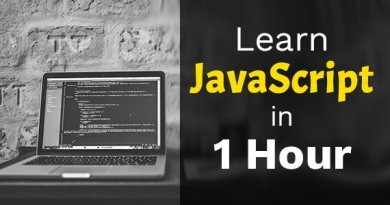Learn JavaScript in 1 hour with John Bura