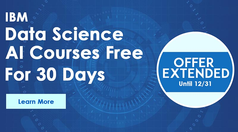 IBM Data Science and AI Programs Free for 30 Days