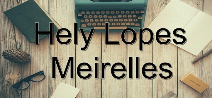 Livros de Hely Lopes Meirelles