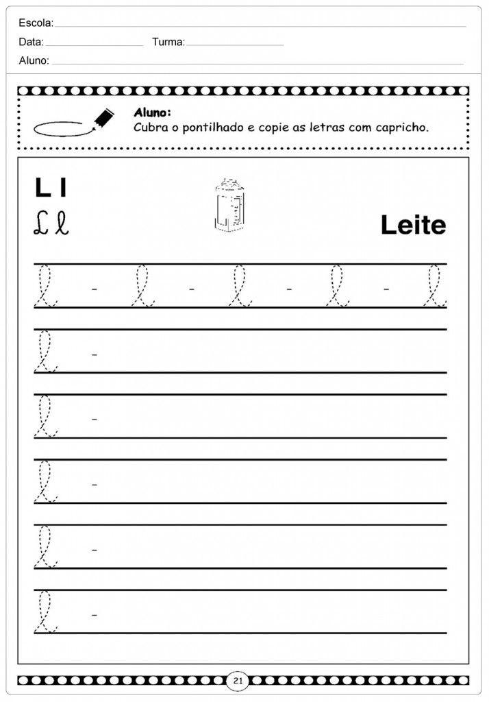 50 Atividades Com A Letra L Para Imprimir Alfabetizacao 1º Ano