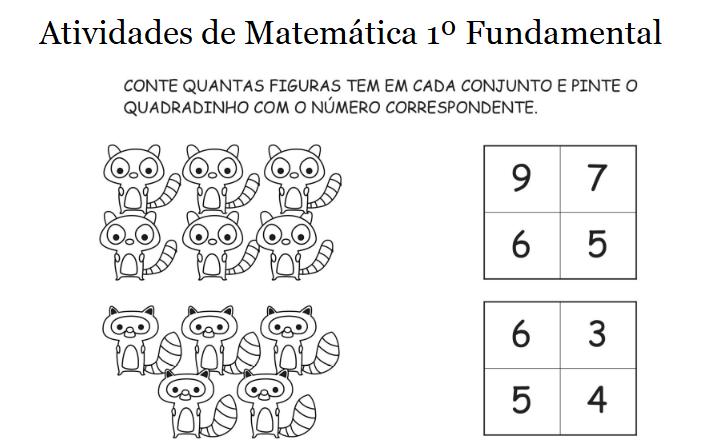 50 Atividades De Matematica 1º Ano Ensino Fundamental Para
