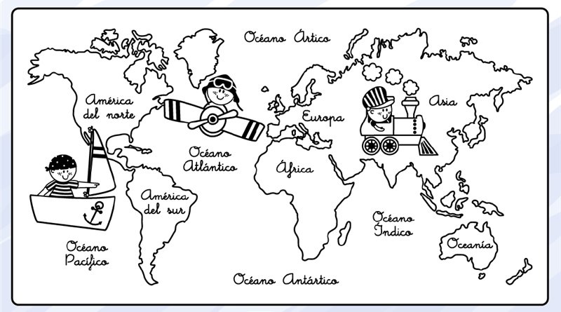 20 Mapas Mundi Preto E Branco Para Imprimir E Colorir