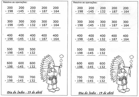 20 Atividades De Matematica Para O Dia Do Indio Para Imprimir