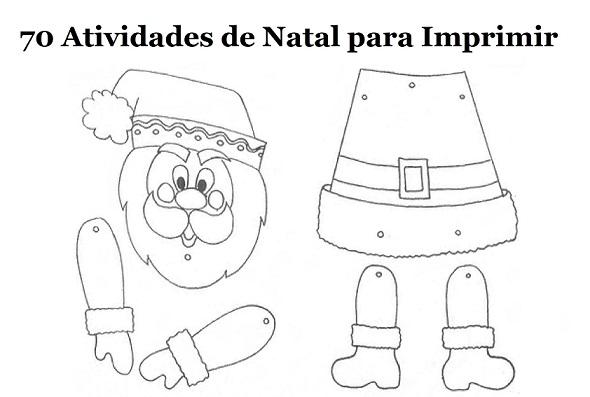 70 Atividades De Natal Para Imprimir Educacao Infantil Online