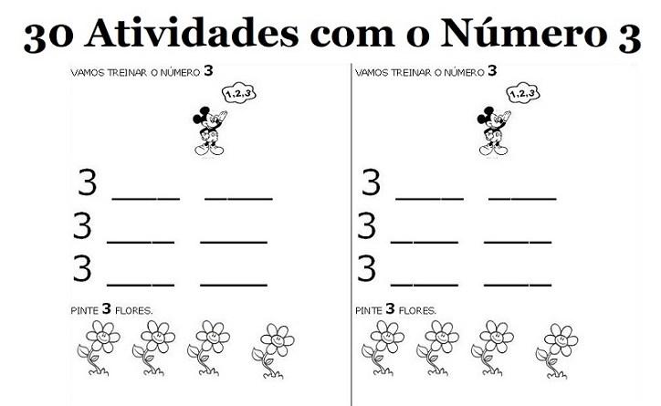 30 Atividades Com O Numero 3 Para Imprimir Educacao Infantil E