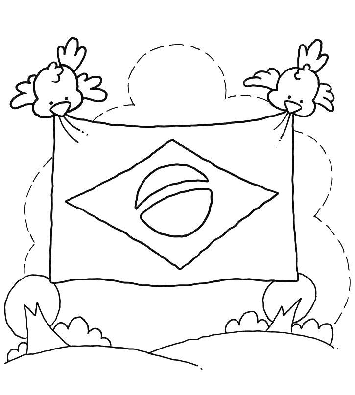 20 Desenhos Sobre O Dia Da Bandeira Para Colorir E Imprimir