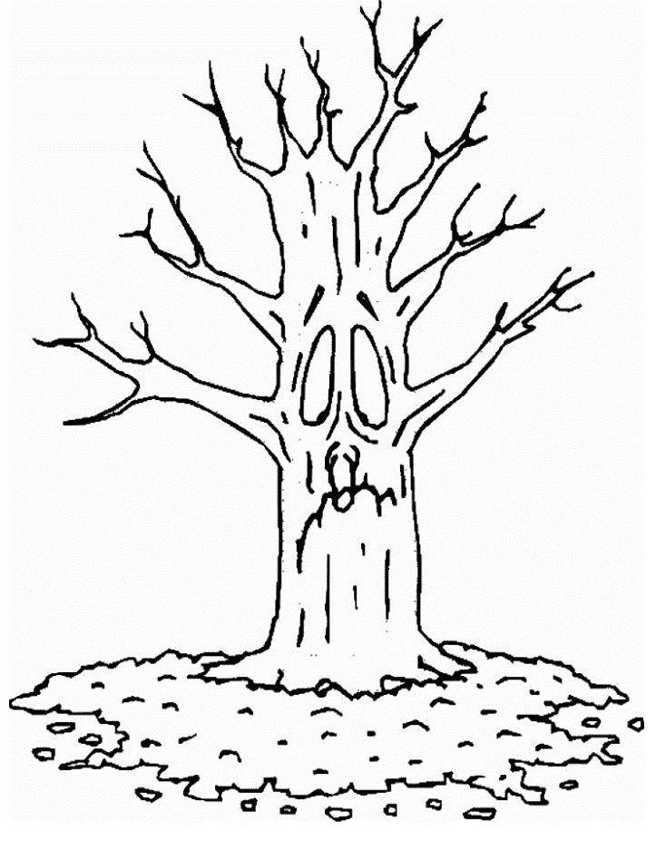 50 Desenhos De árvores Para Imprimir E Colorir Online