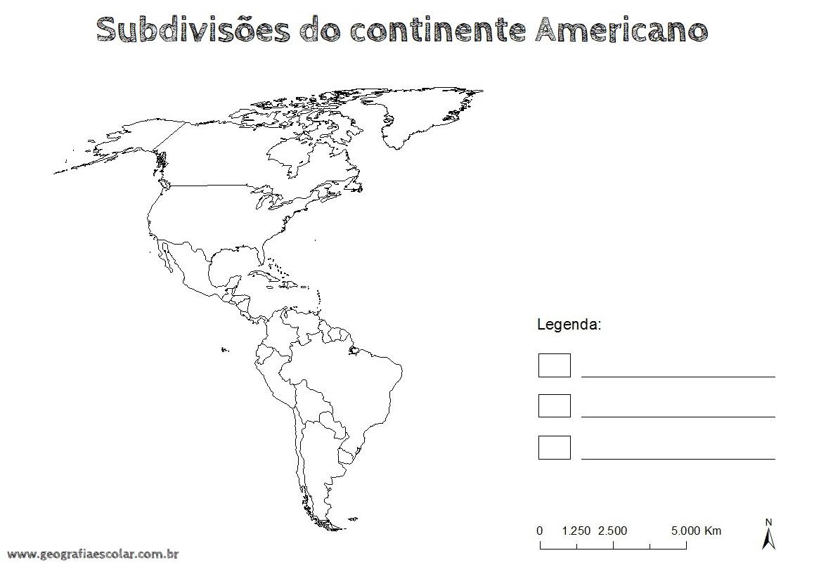 10 Mapas Do Continente Americano Para Colorir E Imprimir Online