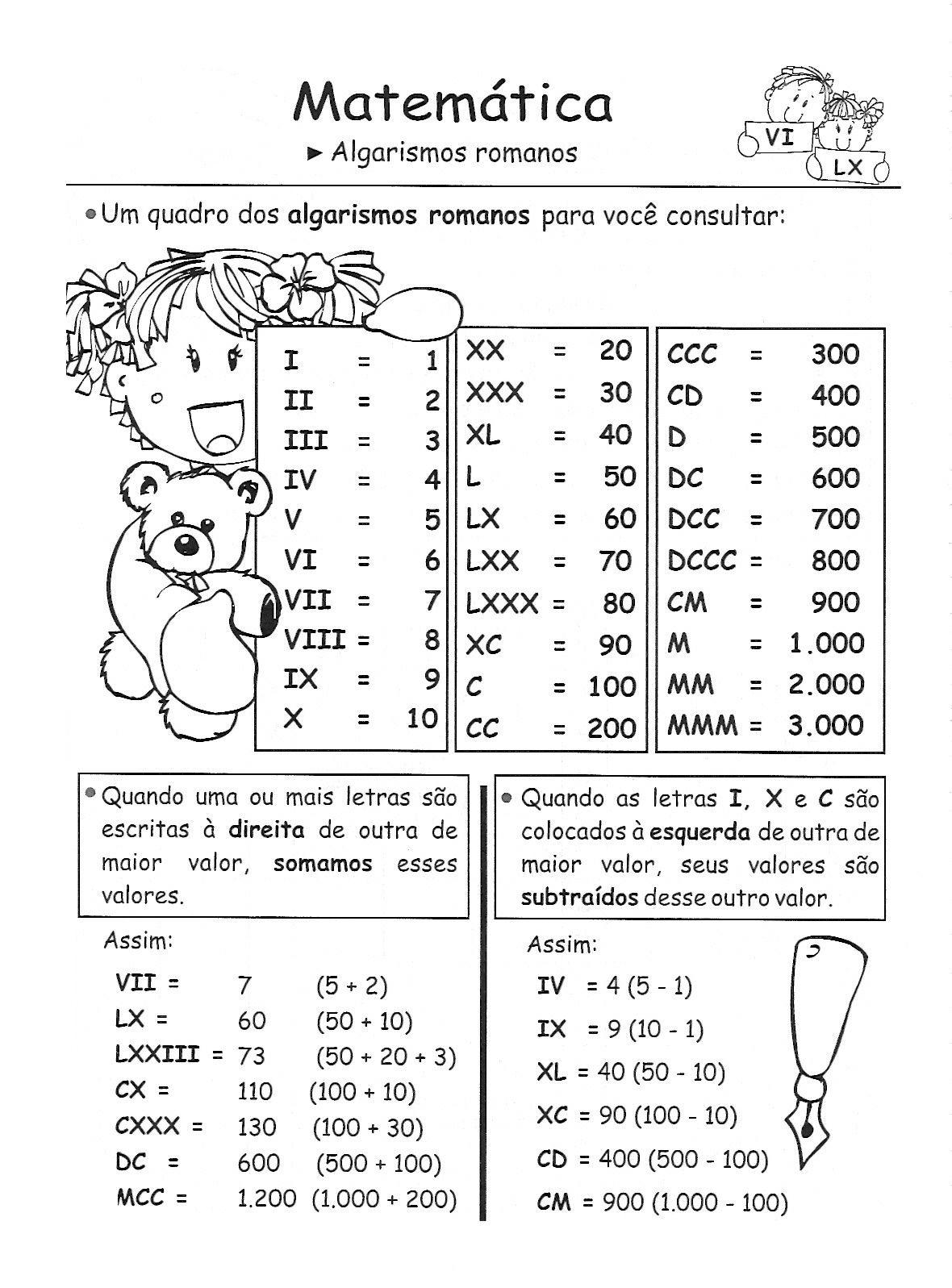 Data Em Numeros Romanos 20 atividades com números romanos para imprimir - online