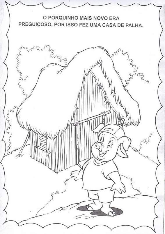 Historia Dos Tres Porquinhos Para Colorir Educacao Infantil