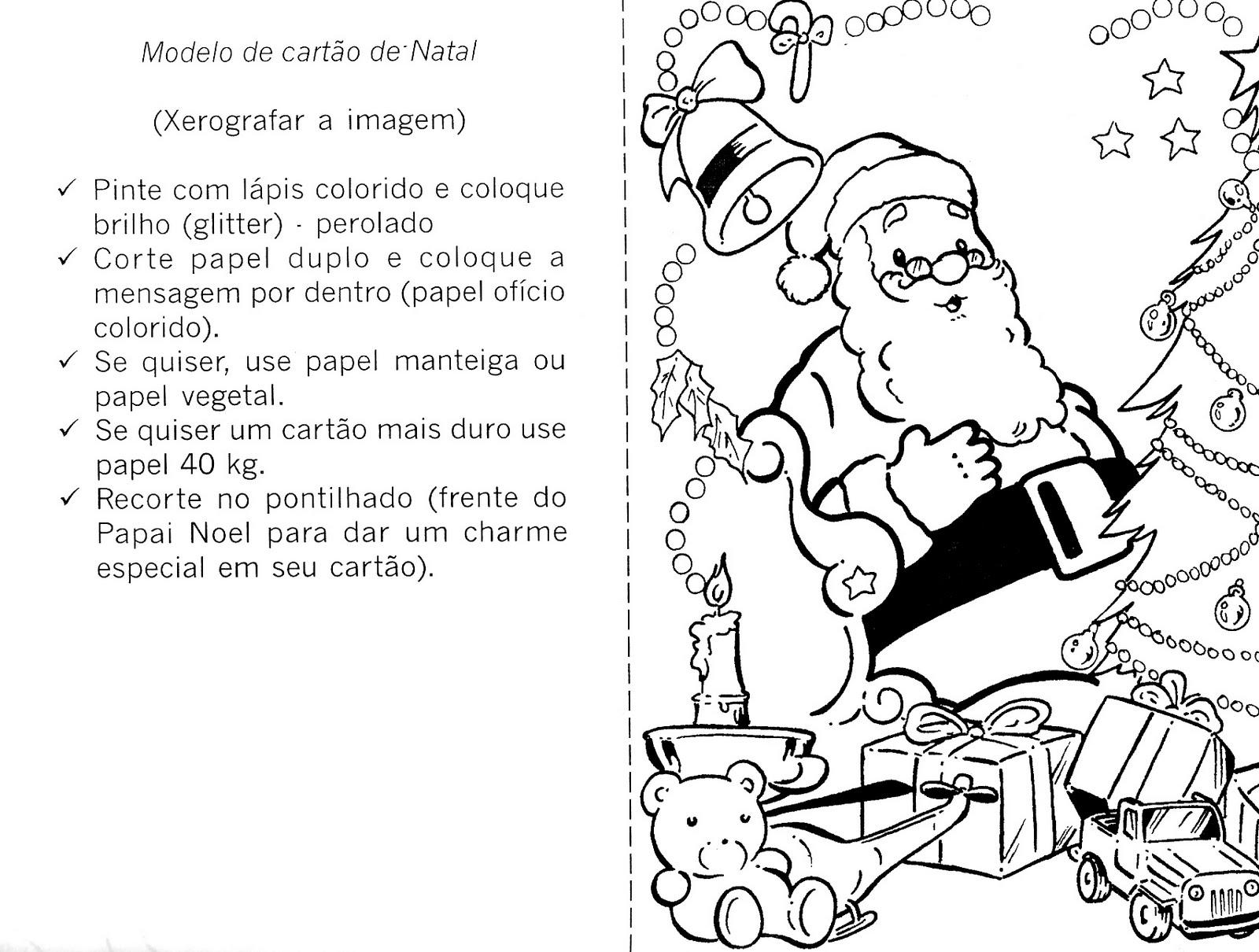 20 Cartoes De Natal Para Colorir E Imprimir Educacao Infantil