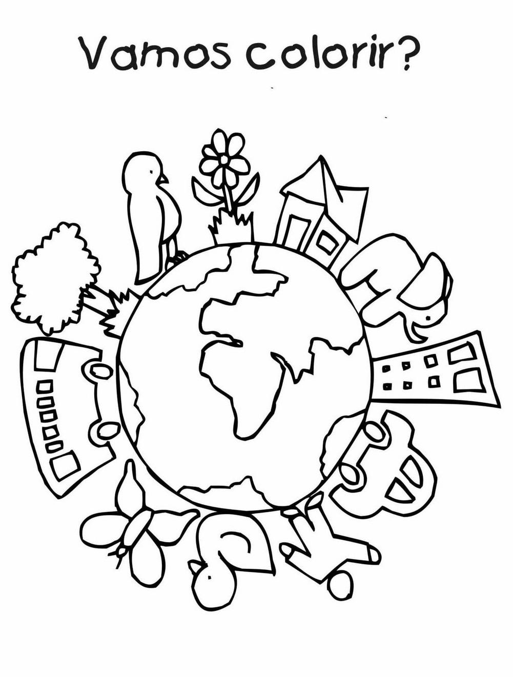 30 Desenhos Da Terra Para Colorir E Imprimir Online Cursos Gratuitos