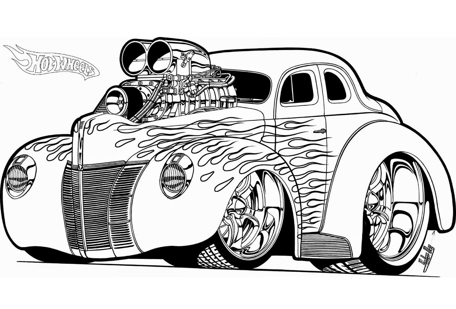 18 Desenhos Da Hot Wheels Para Colorir E Imprimir Online Cursos