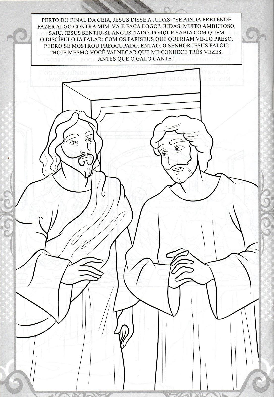 Historia Da Ressurreicao De Jesus Com 10 Desenhos Para Colorir