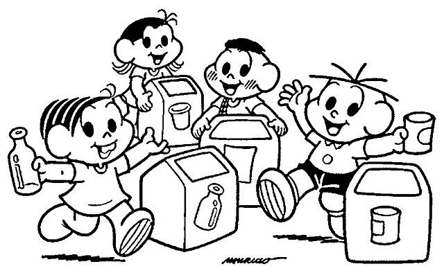 12 Desenhos Sobre Reciclagem Do Lixo Para Colorir E Imprimir