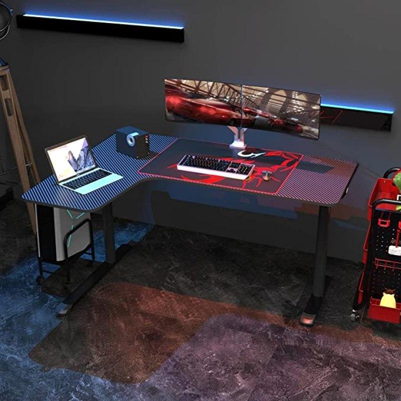 EUREKA ERGONOMIC 60 inch L Shaped Gaming Computer Desk