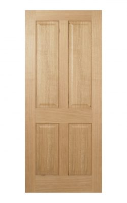 Regency Pre-Finished Oak 4 panel Internal Door - Metric Size