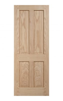 Regency Unfinished Oak 4 panel Internal Door - Metric Size