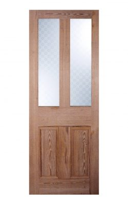 Victorian Pitch Pine Four Panel Glazed Internal Door