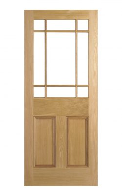 Victroian Oak Vestibule Unglazed Internal Door