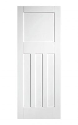 1930's Pine 4 Panel White Primed Internal Fire Door