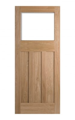 1930's Oak 4 Panel Unglazed Internal Door