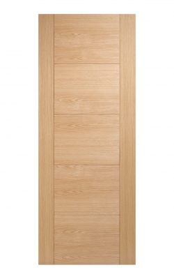 Pre-Finished Oak Vancouver 5 panel Internal Fire Door - Metric Size