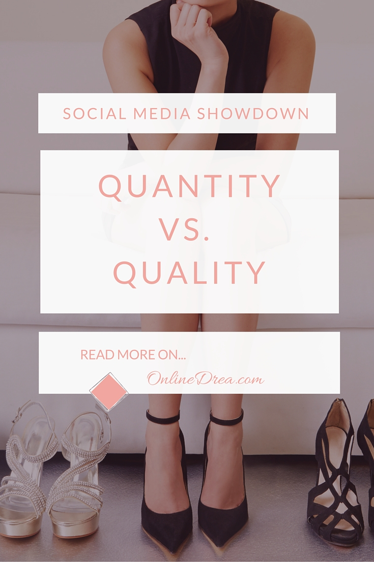 The Big Debate: Quantity vs Quality on Social Media