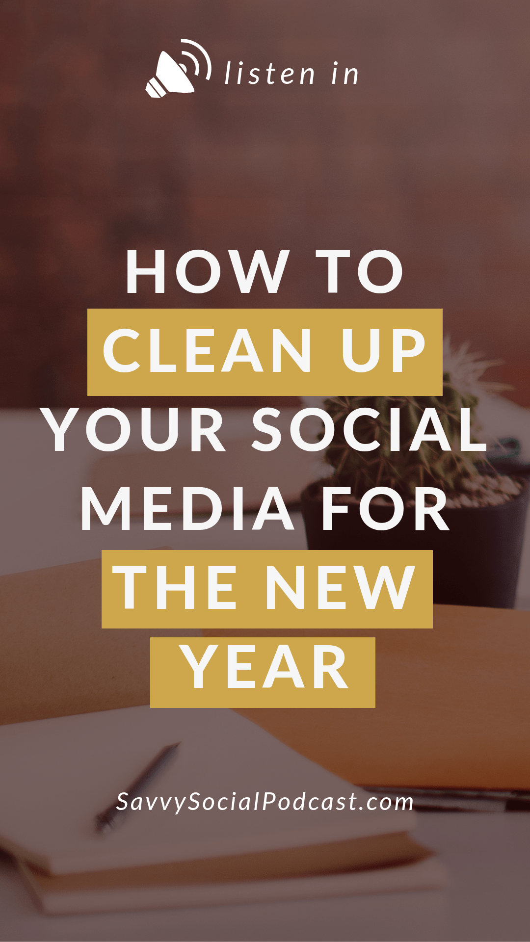 As the year ends, it's important to review what's working for you and what's not so you can make way for a new year and a new you! From your profile to your analytics, it's time to clean up your social media, and I've got four easy steps to help make that happen.