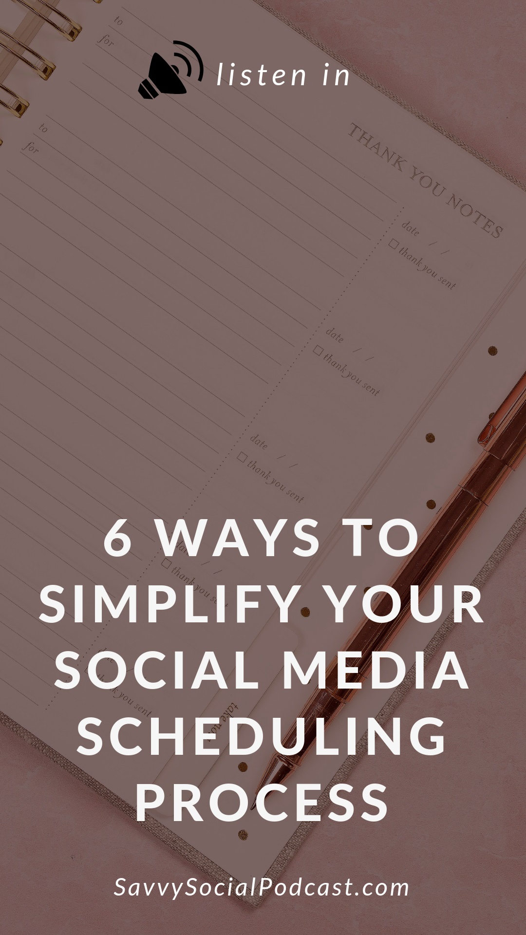 This episode is dedicated to anyone who has ever experienced decision fatigue. Deciding what content to post on your social media can be overwhelming if you don't already have a plan in place. Today, I'm sharing the exact steps from my Savvy Social School to help simplify your social media scheduling process and to make your life easier!