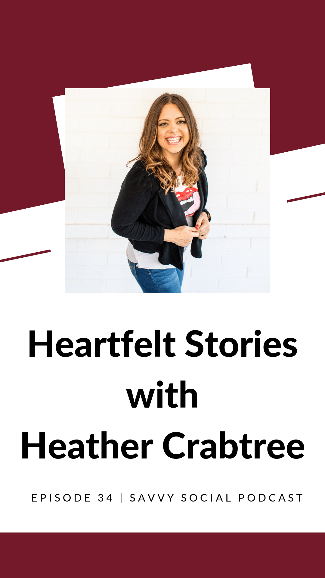 Listen in to this episode of the #SavvySocialPodcast podcast to hear how @HeatherCrabtree brings heart and shares her story on social media. We talk about her #boundaries as well as how she manages to find balance.