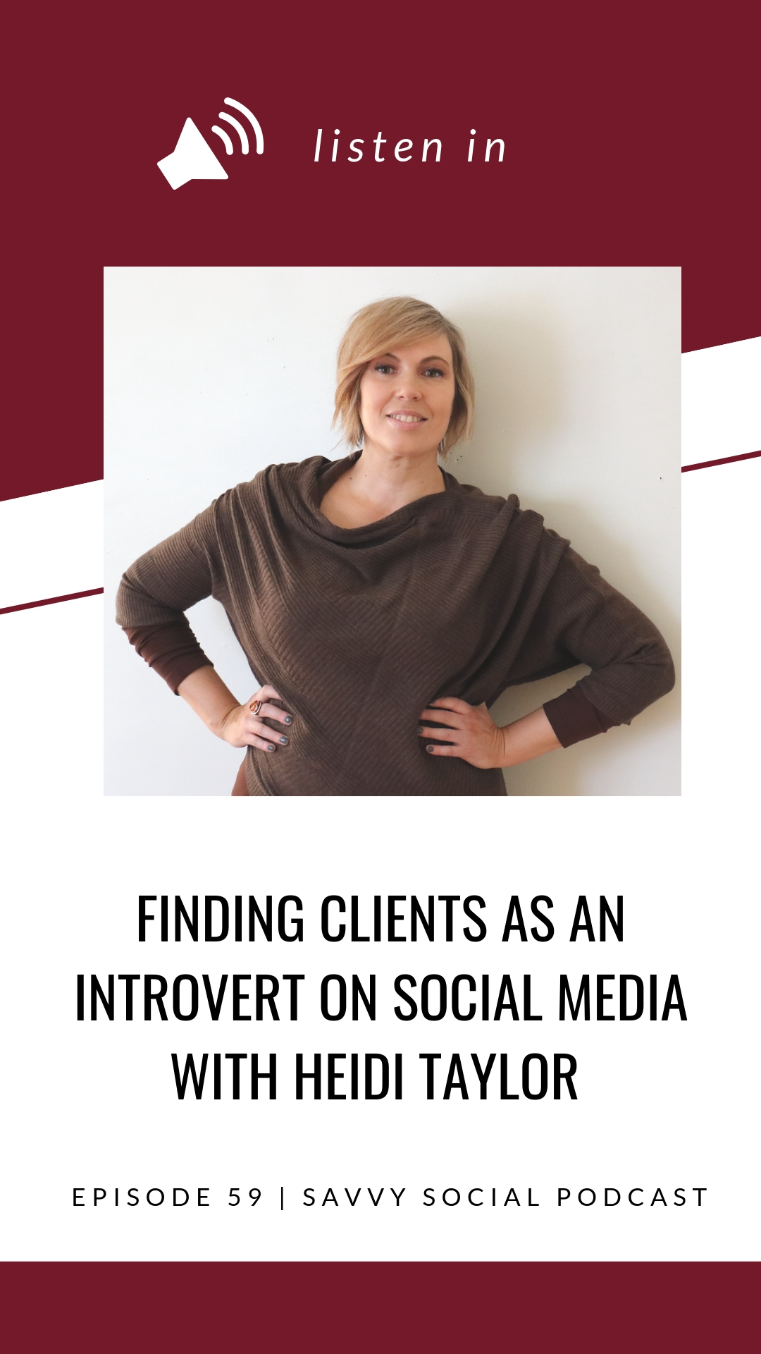 Raise your hand if you're an introvert! I'm actually a huge introvert so I know firsthand how difficult it can be to put yourself out there for the sake of connecting with others. Even if you're not an introvert, chances are you've had your own struggle with creating meaningful connections. Heidi Taylor explains how really knowing your client makes connecting easier and she sheds some light on how to find your place in the online world!
