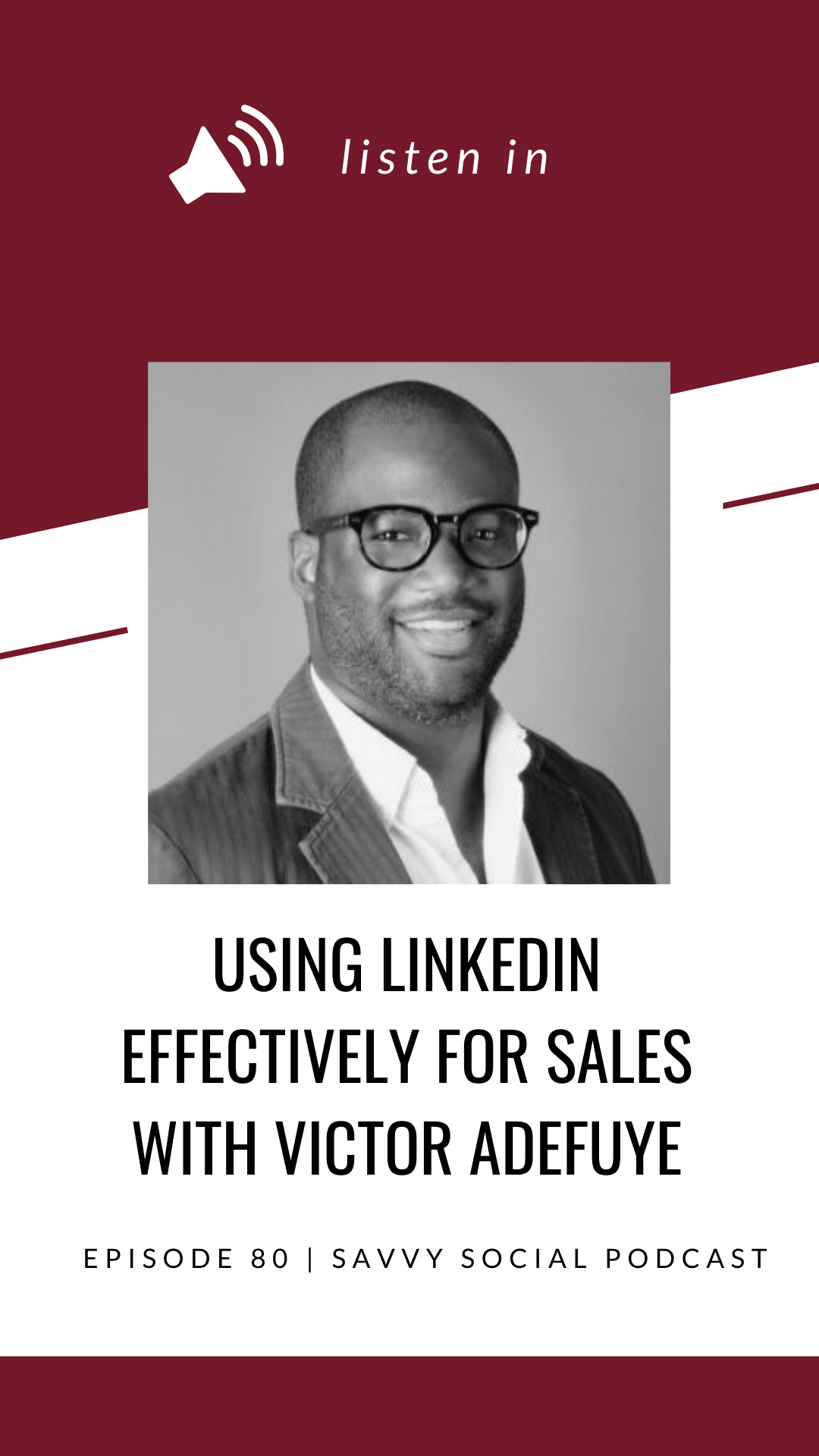 Whether you love the sales process or feel overwhelmed just thinking about it, having strong sales is critical for any business to be successful. This episode with sales expert Victor Adefuye will show you the power of LinkedIn to help close the deal and how LinkedIn can play a role in your sales & marketing strategy!