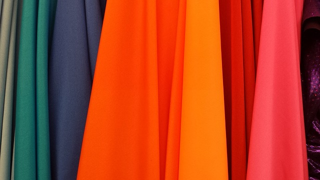Clothes in different colors.