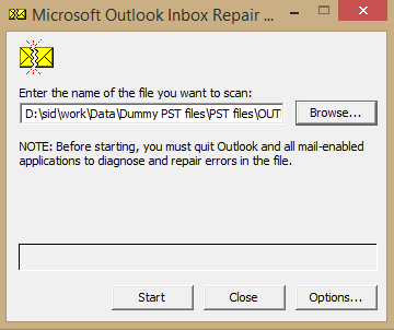 How to Repair a PST File of POP3 Account in Outlook 1