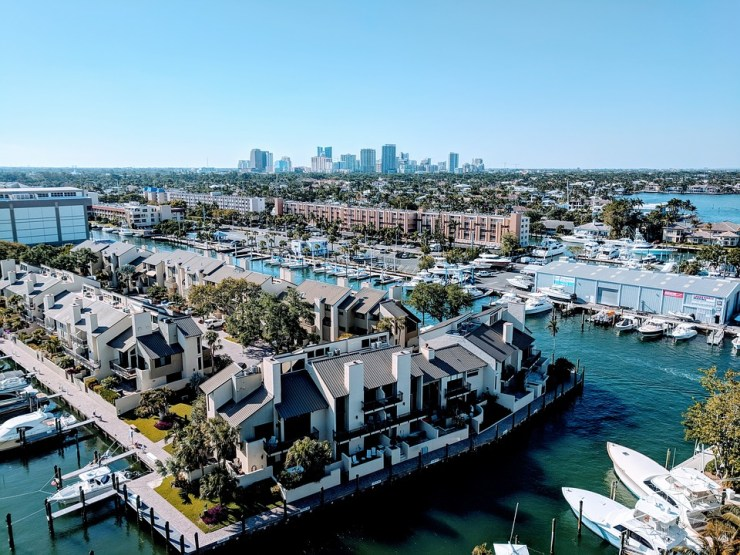 A view of Fort Lauderdale, which is one fo the best coastal cities to live in Florida.