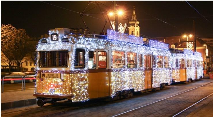 Christmas Tram Budapest