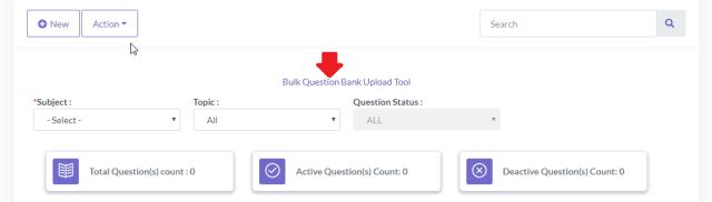 Bulk questions upload option