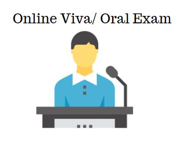 Online Viva oral exam