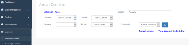Assign Examiner for online paper checking