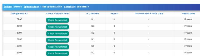 Answer sheet evaluation student data masking