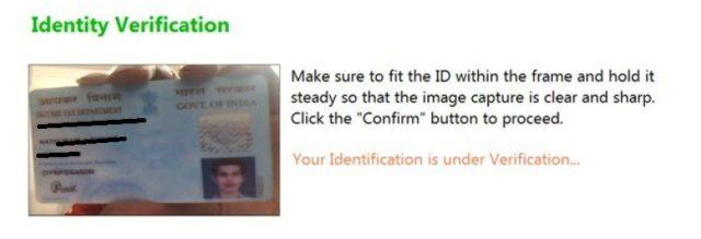 Identity Verification during Remote Proctoring online examination