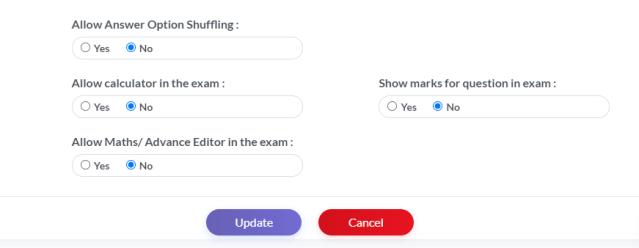 Online Exam Configurations